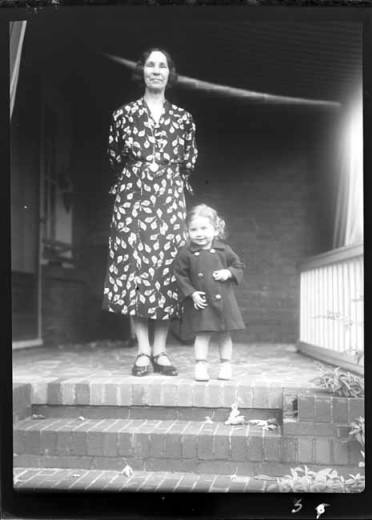 item thumbnail for Kay Laughlin with Aunt Genie, 1938 [1]