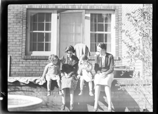 item thumbnail for Marguerite and Kay Laughlin with another woman and child