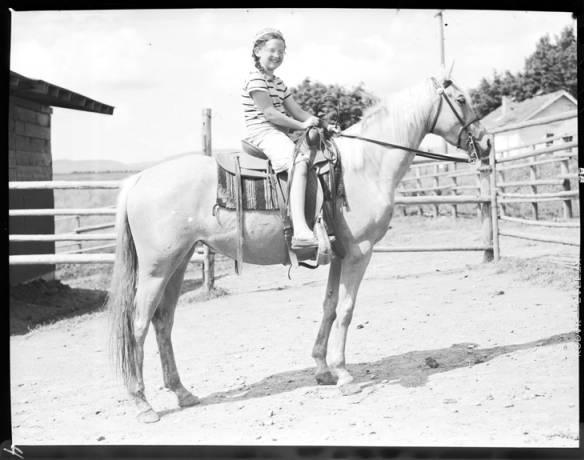 item thumbnail for Helen Laughlin on Cumming's horse