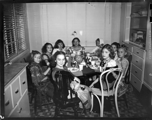 item thumbnail for Girls at Kay Laughlin's Halloween party