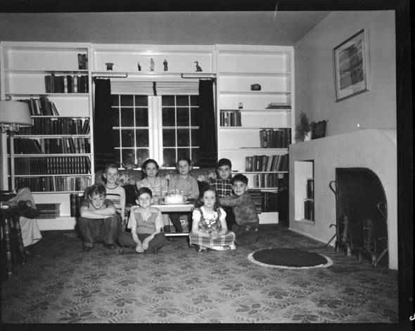item thumbnail for Laughlin children with friends on twin's birthday [1]