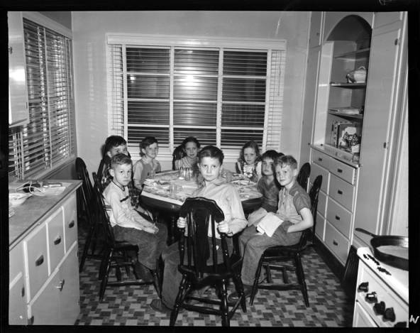 item thumbnail for Laughlin children with friends on twin's birthday [2]