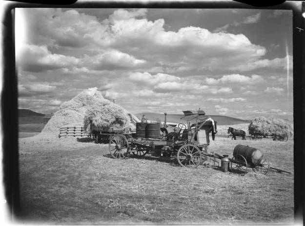 item thumbnail for Harvest scene with wagon