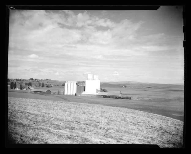 item thumbnail for Palouse region, grain elevators, 1947
