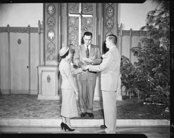item thumbnail for Don Wilson wedding, 1950 [2]