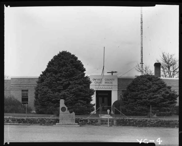 item thumbnail for County Courthouse Owyhee, 1967