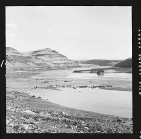 item thumbnail for Snake River across the mouth of the Palouse River [1]