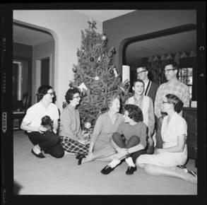 item thumbnail for Laughlin family at Christmas, 1959 [3]