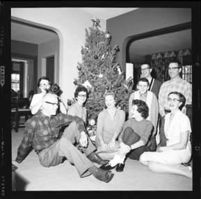 item thumbnail for Laughlin family at Christmas, 1959 [4]