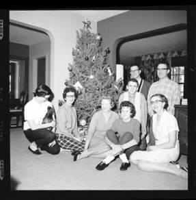 item thumbnail for Laughlin family at Christmas, 1959 [5]