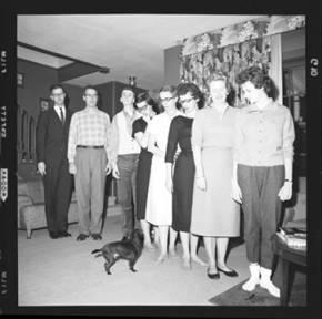 item thumbnail for Laughlin family at Christmas, 1959 [8]
