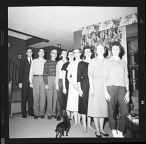 item thumbnail for Laughlin family at Christmas, 1959 [10]