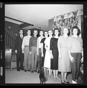 item thumbnail for Laughlin family at Christmas, 1959 [11]