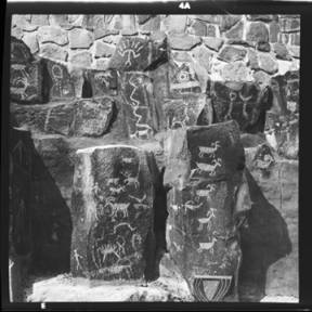 item thumbnail for Ginkgo Petrified Forest State Park, Petroglyphs, 1960 [2]