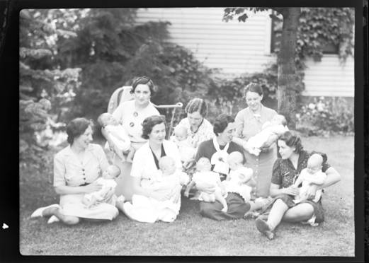 item thumbnail for P.W.A. [seven ladies holding babies], 1938 [2]