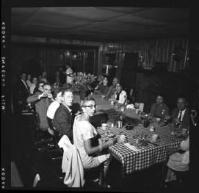 item thumbnail for Lake Coeur D'Alene (Idaho), people having dinner, 1959 [3]