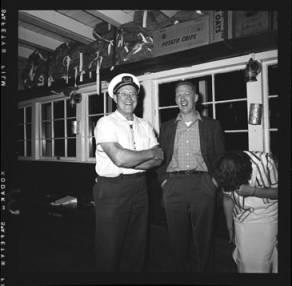 item thumbnail for Lake Coeur D'Alene (Idaho), John Finney with unidentified man, 1959