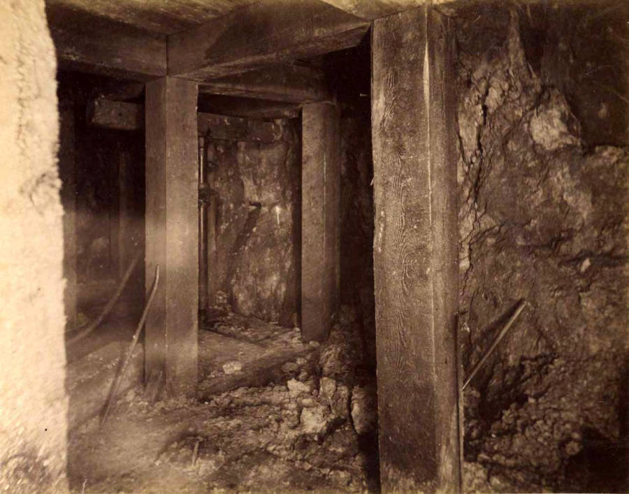 item thumbnail for Mountain Consolidated Mine 100 ft. level West sill floor  [no. 1232]