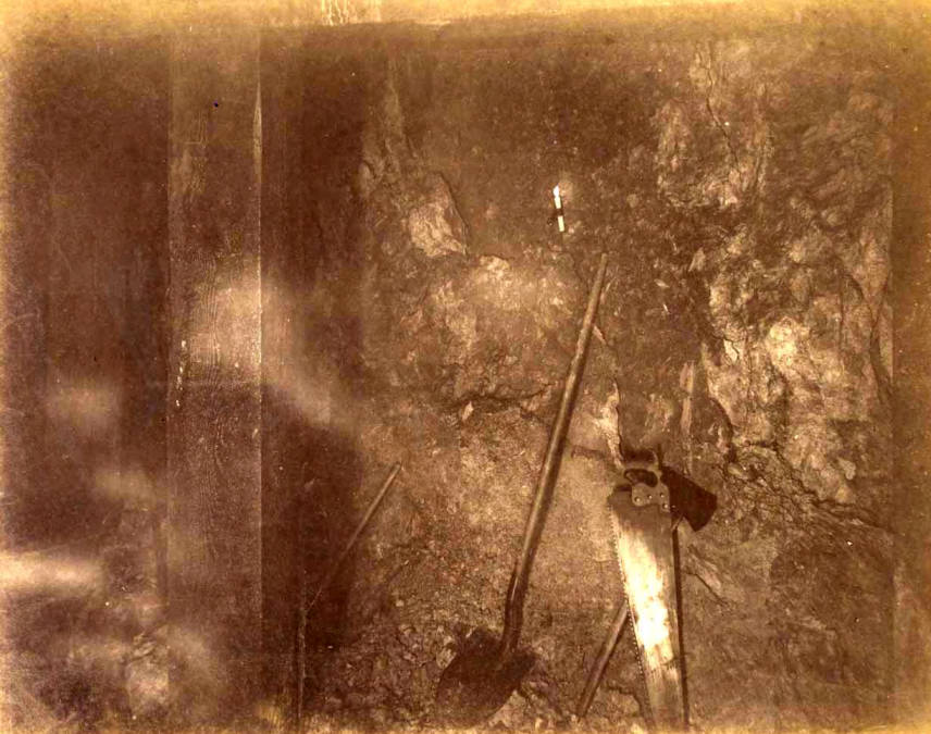 item thumbnail for Mountain Consolidated Mine 550 ft. level East sill floor [no. 1233]