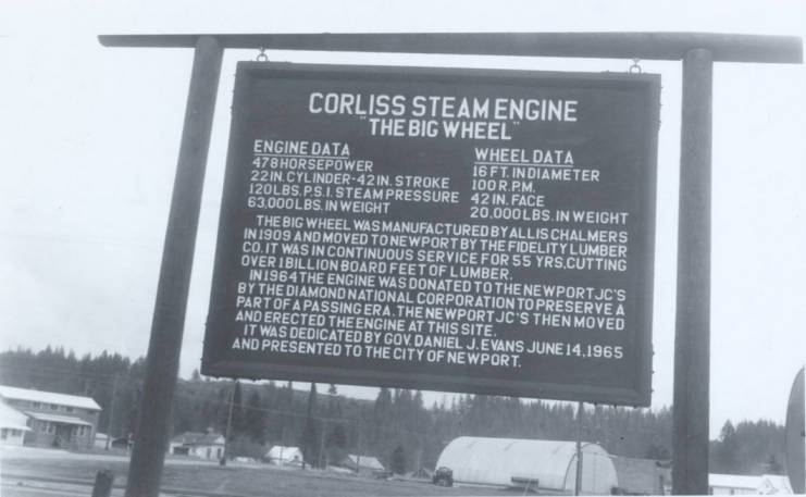 item thumbnail for Corliss Steam Engine Sign
