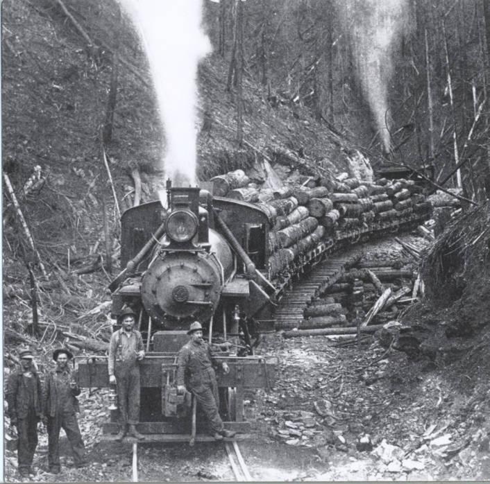 item thumbnail for Milwaukee Lumber Company Log Train and Crew