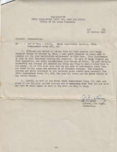 Commendation Letter