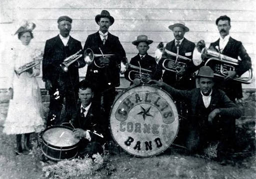 Image of Challis cornet band. Challis, Idaho.