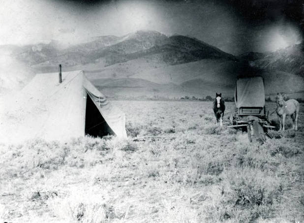Image of Sheepherders' Camp? Challis, Idaho.