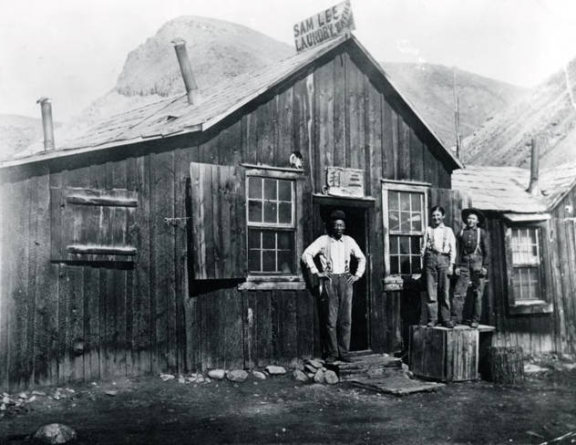 Image of Sam Lee Laundry. China Town in North Challis. Challis, Idaho.