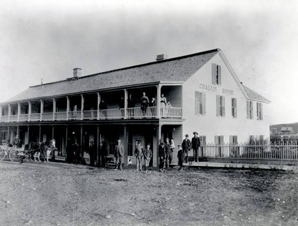 Image of Challis House on Main Street above Legion hall. Challis, Idaho.