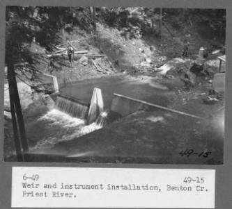 &#34;Weir and instrument installation, Benton Cr. Priest River.&#34;<br&gt;511
