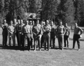 Forest Service personnel from left, Daubenmire, Boyd, Dedan, Foiles, Kardos, Chehok, Summerside, Rehfeldt, Kelhamek, Swanger, Steinhoff, Olson, Brown, Weistemer, Coffen, Carpenter, Deitschman (photographer)<br&gt;58