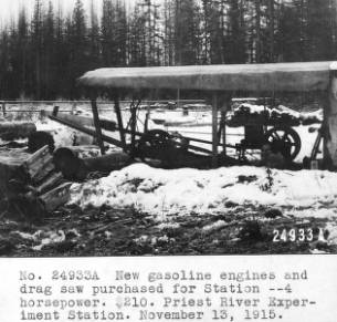 &#34;New gasoline engines and drag saw purchased for Station - 4 horsepower.&#34;<br&gt;747