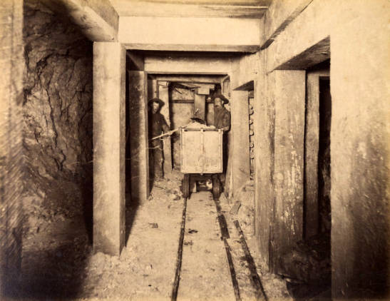Mountain Consolidated Mine 100 ft. level East still floor [no. 1217]