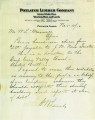 item thumbnail for Memo and check information from Potlatch Lumber Company