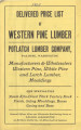 item thumbnail for Delivered Price List of Western Pine Lumber